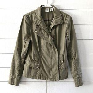 Armani Exchange Olive Green Zip Utility Jacket